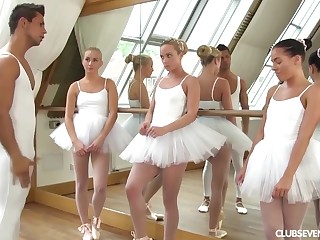 three youthfull lil' ballerinas ration manmeat of teacher croak review affray