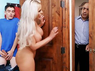 Hot step mom ride stepson's fat dick