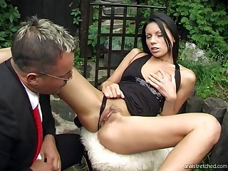 Brunette model Paola loves to be fucked all on touching all of her horny holes