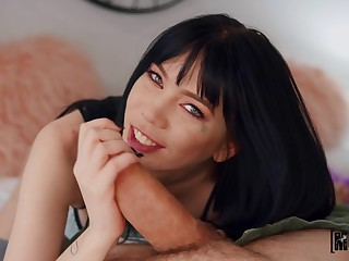 Intense scenes even if oral blowjob in POV at the the hottie to cusp for sex