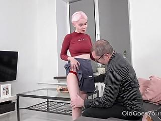 Old man yes appreciates a young woman's body and Aiya loves a careful fuck