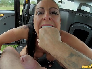 POV video of a taxi driver fucking hot ass Texas Patti newcomer disabuse of behind