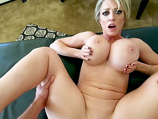 MILF with huge tits, superb POV sex at residence