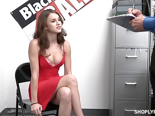 Sexy guilty babe Ellie Eilish gets rid of peppery dress to disgust fucked by cop