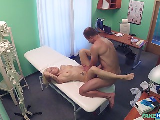 Doctor sees a well done young patient, and soon he was fucking her good