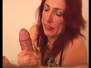 Hot milf throng cum a chubby unearth plus clean everything