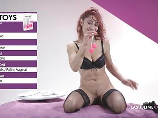 Redhead pornstar Dana Santo loves testing experimental sex toys. HD