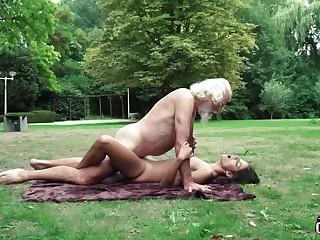 70 yr senior granddad pulverizes legitimate yr senior female wails and aroused