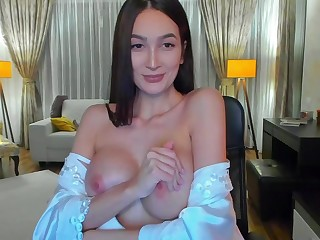 Spellbinding cutie amazing webcam videeo